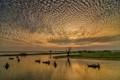 Golden sunset in Amarapura