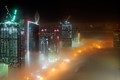 Fog in the night dubai