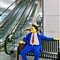 Lego Man by escalator rw