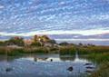 Dawn at Mungeranie, Birdsville Track