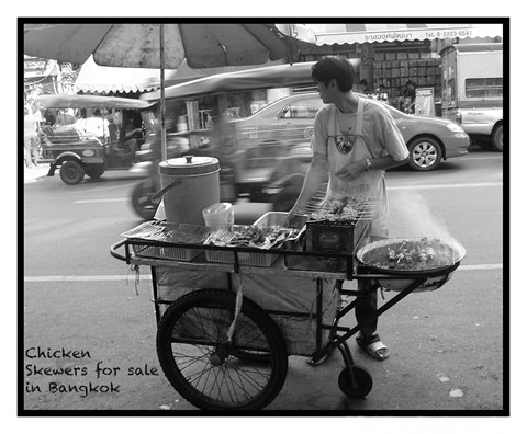 Chicken Skewers for Sale in Bangkok