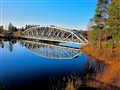 Bridge in Boden north of polar circle in Sweden