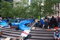 Occupy Wall Street tents