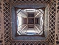 Directly Under The Eiffel Tower Looking Up.