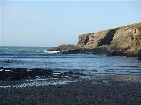 2) A calm sea