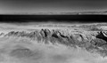Infrared photo of a scene in Montaña de Oro State Park in California.
