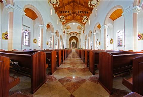 Interior St. Patrick Church Miami Beach