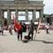 """Berlin's """"Welcome"""" team at Brandenburg Gate"""
