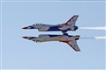 Thunderbirds mirror image flyby