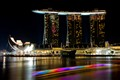 Colorful Marina Bay Sands