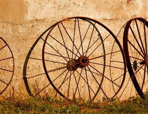 Rusty Wagon Wheels at the Farm resized