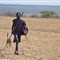 Massai boy with dog
