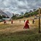Soccer game in the thin air, Tengboche 3,867m - Nepal - Everest Base Camp - April 2017