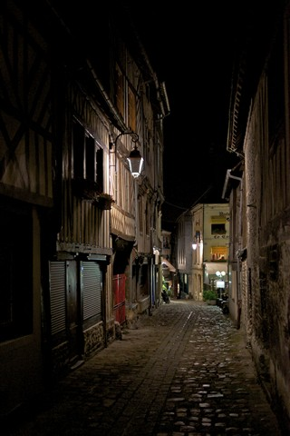 The small street at night...