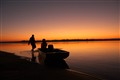 Sunrise in Araguaia river, Brazil