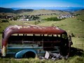 Mystery Mt Village with Mascot Abandoned Bus