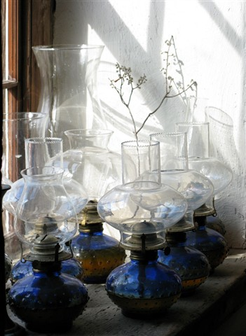 Hurricane Lamps- Windowsill- Old Mill_0558