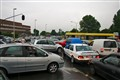 Chaos in Brussels traffic