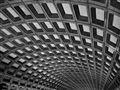 Ceiling of Washington, DC Metro